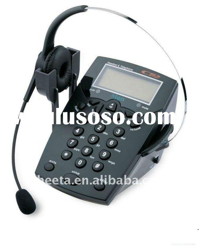 Customer service call center headset telephone