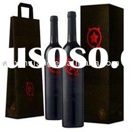 Customized Paper Wine Bottle Packaging Box & Bag