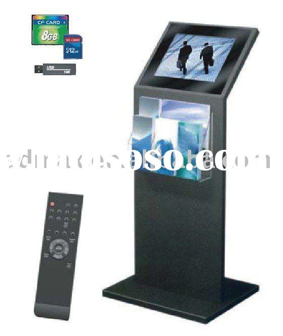Digital LCD Plug-and-Play Banner Display Stand with Brochure Holder for Event Promotion (optional To