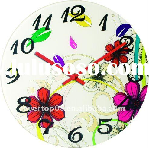ETG8812R modern design frameless painting wall clock of craft clock face