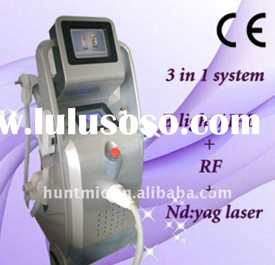 E-light + RF + laser ipl hair removal machine ( 3 in 1 multifunction )