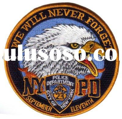 Embroidered NYPD emblem for police uniform