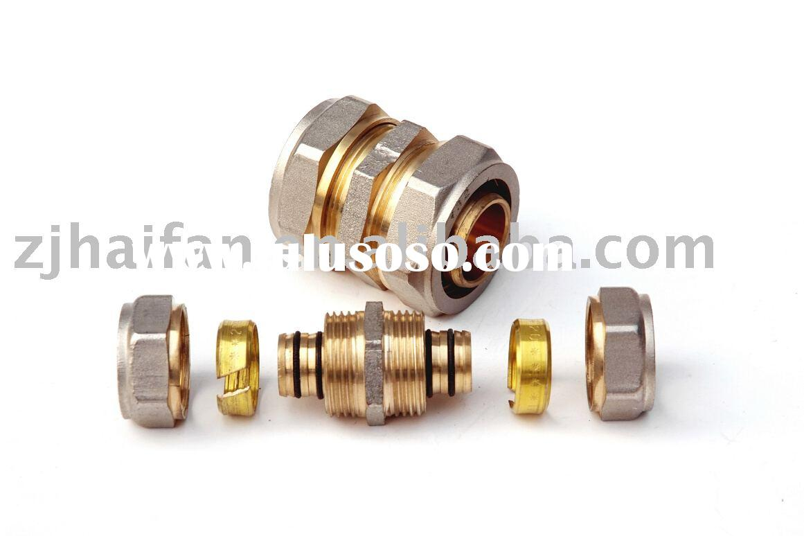 Equal Coupler-nickel plated brass fitting for pex-al-pex pipe