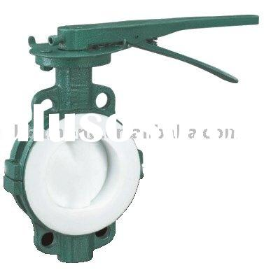 FEP Lined Butterfly Valve/PFA Lined Butterfly Valve