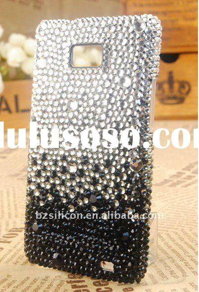 Fashion Luxury jeweled bling phone cases for samsung galaxy s2, custom your own design