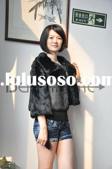 Fashion Rabbit Fur Coat For Ladies