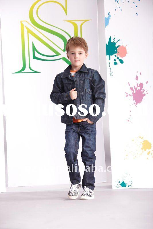Fashion children clothing sets in denim jean