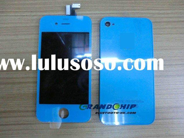 For iPhone 4 LCD screen touch back cover housing kit, Blue