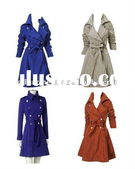 Free Shipping 2011 New Arrival Fashion Women Trench Coat Winderbreak Jacket Military Style Swallow t
