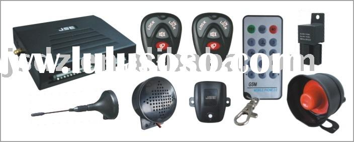 GSM car alarm with remote engine starter function