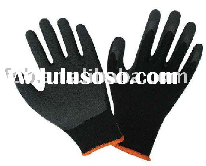 Gloves,working gloves,Cotton Yarn Latex Gloves,yarn dipped latex glove,Ten stitch latex rubber yarn