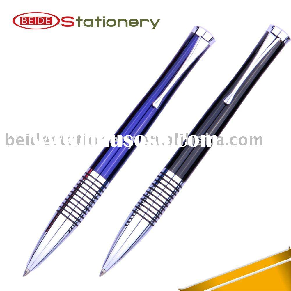 Good Quality Twist Metal Pen With Rubber Rings