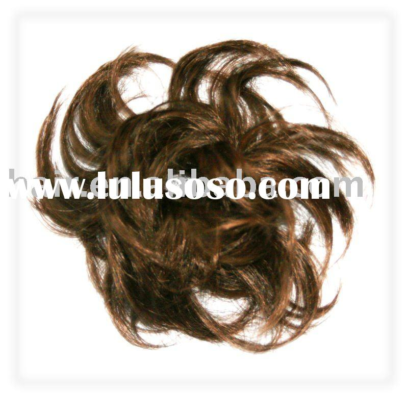 Hair braid extension Pony tail Curl wig Pony tail Curl wig hair Hairpieces Hair Synthetic hair or Hu