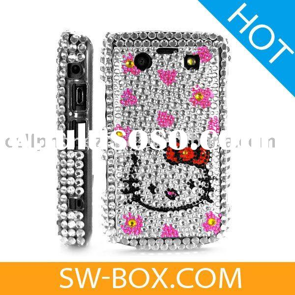 Hello Kitty Diamond Bling Case Cover for BlackBerry Bold 9700 9020 Onyx - Silver /blackberry case