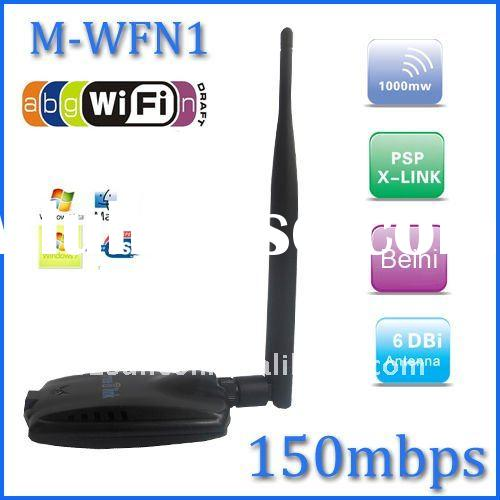 High Power Wireless N USB Adapter - 802.11n, 150Mbps, 1000mW, USB 2.0
