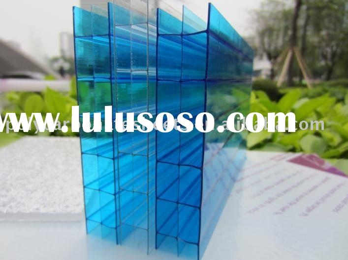 Hollow polycarbonate sheet New building material for decoration home use office partition-ISO verifi