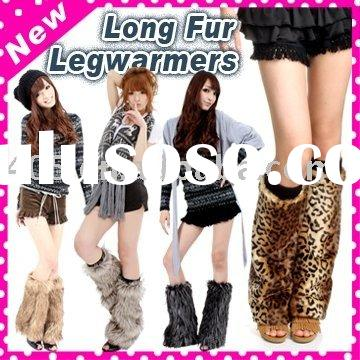 Hot Beauty X'mas Gift Fur Fashion Leg Warmer Stocking/Knitted Leg Warmers
