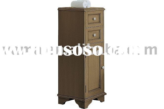 Hot sell Antique solid wood side cabinet/Floor stand wooden side cabinet/bathroom furniture cabinets