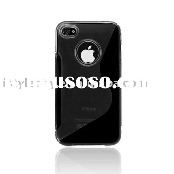 Hybrid PC + TPU Case for Apple iPhone 4 (Black)