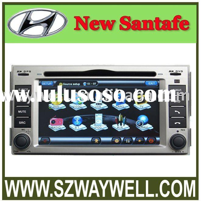 Hyundai New Santafe Car DVD GPS Navigation Bluetooth Radio IPOD Touch Screen Video Audio Player
