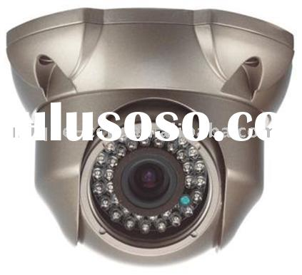 IR vandal proof dome camera with 4~9mm varifocal lens