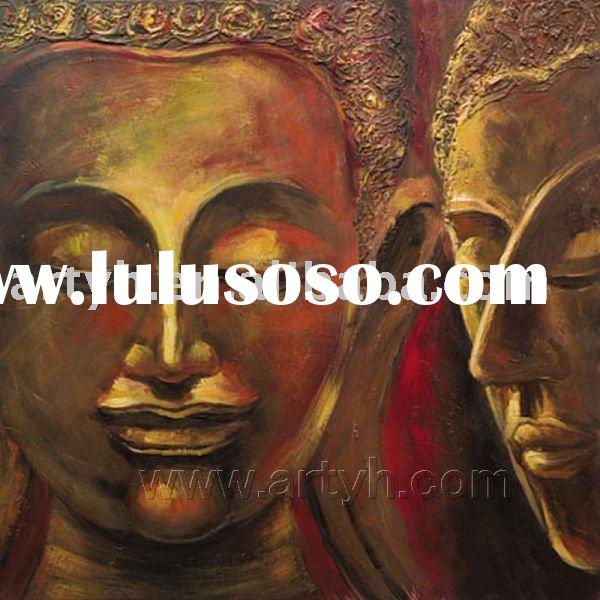 Impressive Buddha Abstract Oil Paintings