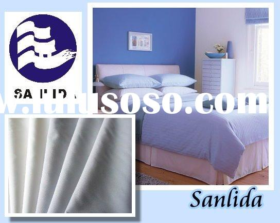 Inherently Flame Retardant hotel bed sheet fabric