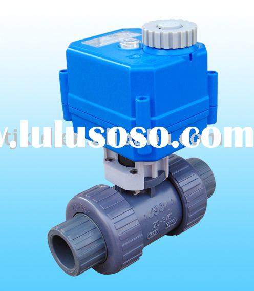 KLD100 small 2-way Motorized Plastic Ball Valve for automatic control, water treatment