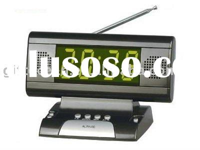 LED Display Digital desk alarm clock with radio