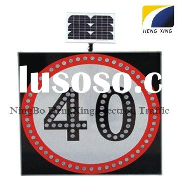 LED Traffic Sign HX-SS10 (Solar panel power: 5W-30W)