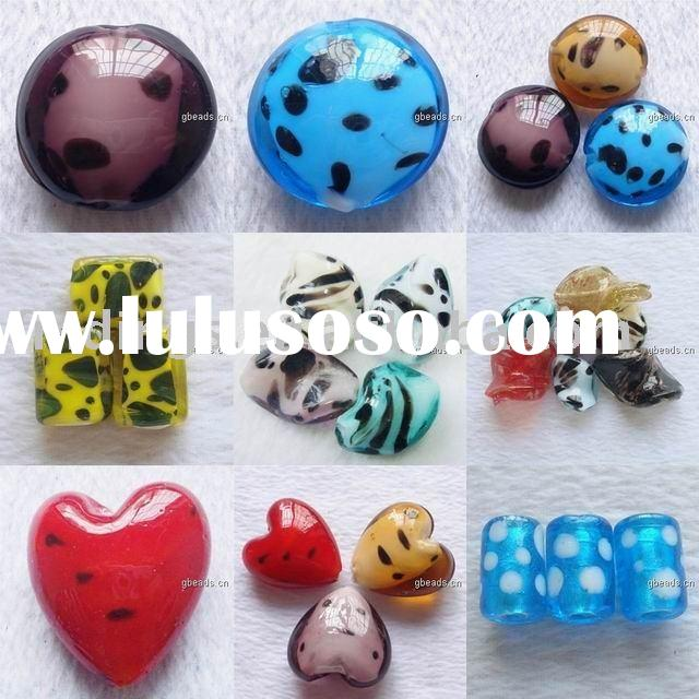 Lampwork beads,Dichroic Lampwork Cabochons,Blown Hollow Beads, Acrylic Beads, Chinese Beads