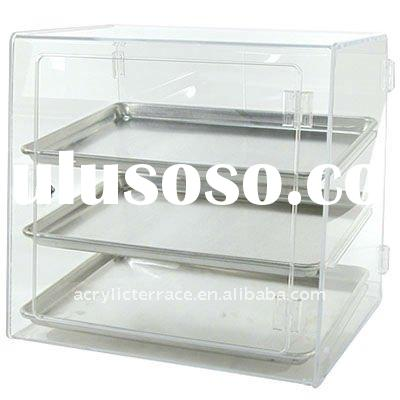 Large Acrylic Pastry Bakery Donut Display Case With 3 Tray
