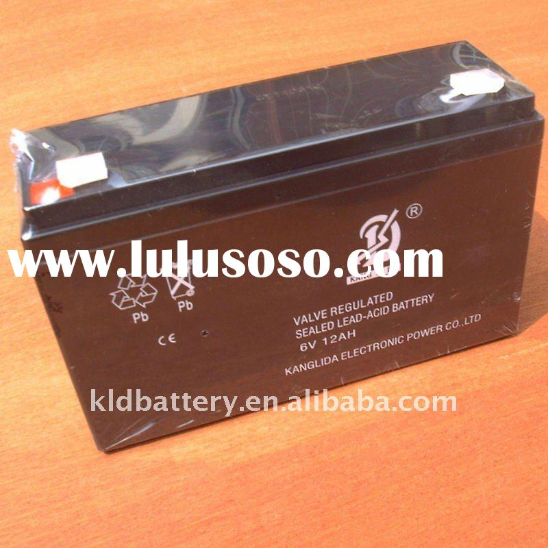 Lead acid rechargeable battery 6v12ah