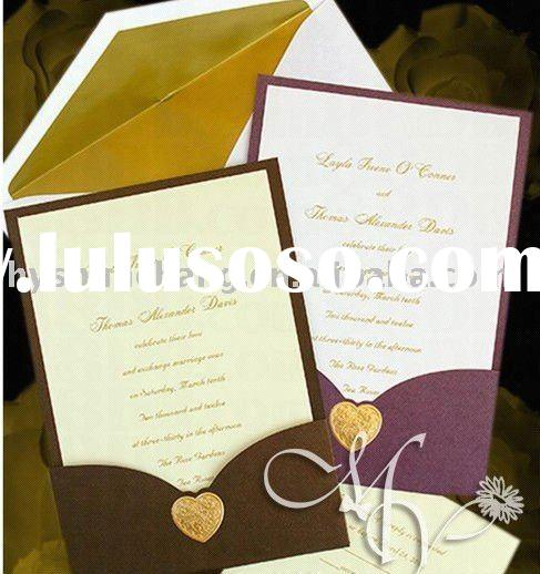 Lovely design wedding invitation card printing service
