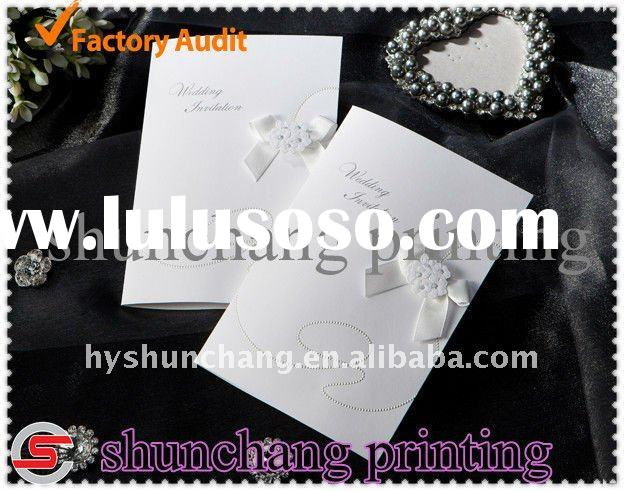Luxury high quality invitation card printing service