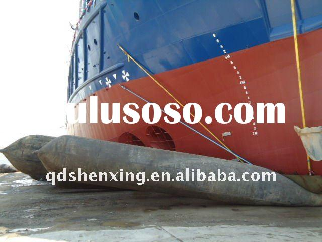 Marine salvage airbags by submerge ship