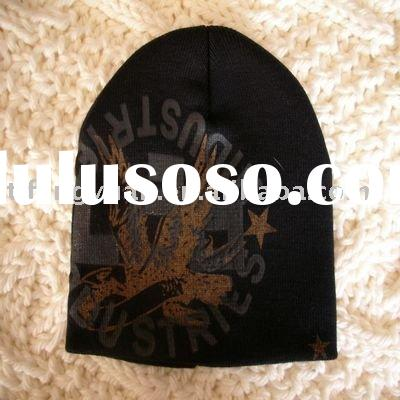 Men's Acrylic Fashion Beanie Embroidered Knitted Winter Hat