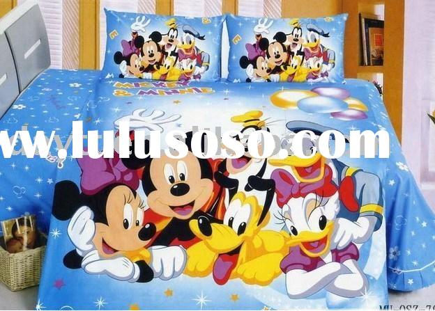 Children Bed Sets Cute Cartoon Mouse Full Size Comforter