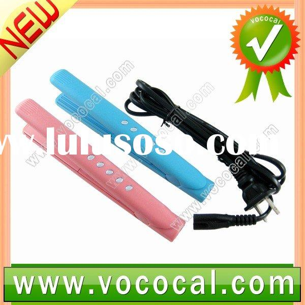 Mini Tourmaline Hair Straightener Travel Flat Wavy Iron