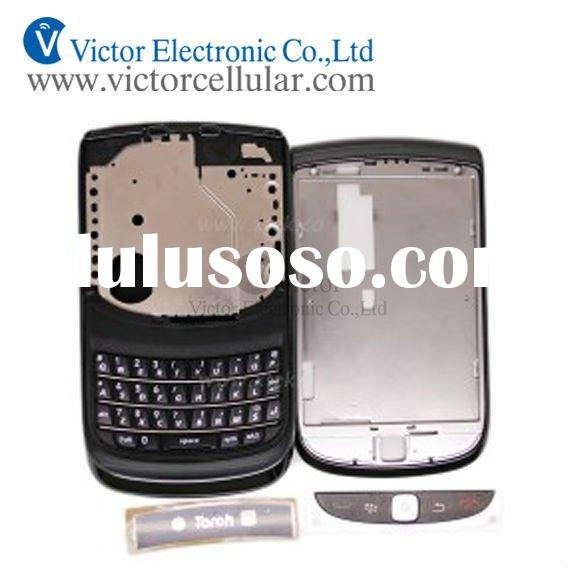 Mobile phone housing,faceplate,facetas for blackberry 9800 torch housing