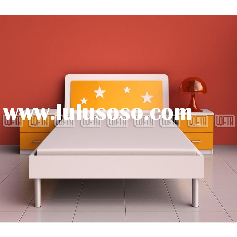 Modern Children bedroom set with wooden single bed and light stand