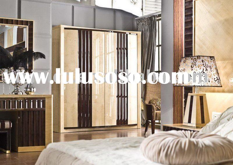 Modern and solid wood four door wardrobe,closet,bed bench,bedroom sets,bedroom furniture