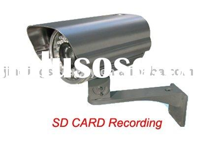 Motion detection camera,with SD card recording ;waterproof ir