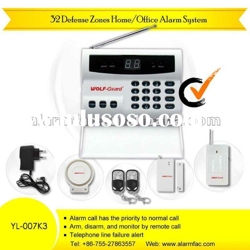 Motion sensor security alarm system factory price chinese manufacturer rc YL-007K3