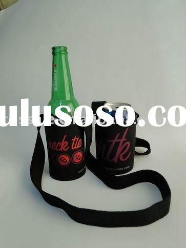 Neoprene can cooler koozie with strap