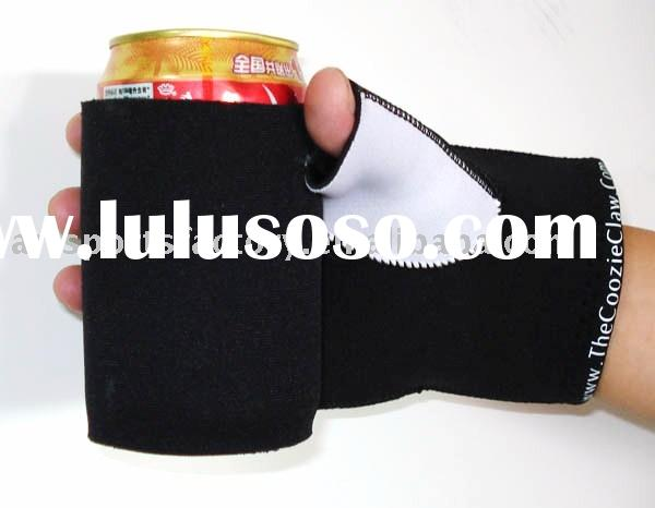 Neoprene can cooler with claw