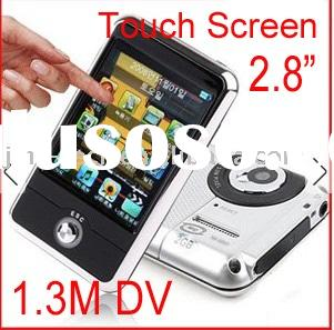 "New 2.8"" Touch screen mp4 Portable Digital Medai AudioMultimedia Camera DV Player Fm Rdaio Pmp"