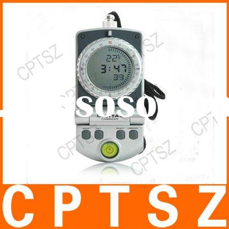 New 3 in 1 Handheld Digital Compass with Clock and Thermometer