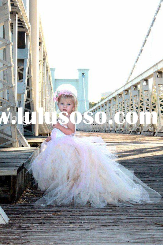 New Design Ball Gown Soft Tulle Baby Dress