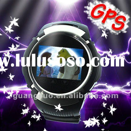New GPS watch phone, GPS positioning, Quad Band GPS Watch mobile phone